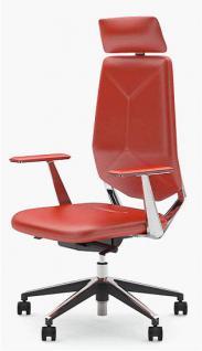 Bürostuhl Objektmöbel Armlehnen Kopfstütze Leder schwarz NS-Nebraska 1