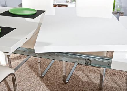 tisch esstisch ausziehbar hochglanz wei oklahoma kaufen. Black Bedroom Furniture Sets. Home Design Ideas
