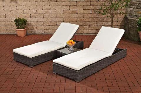 3 tlg set 2x liege tisch rattan 3 farben cl sola kaufen bei eh m bel. Black Bedroom Furniture Sets. Home Design Ideas