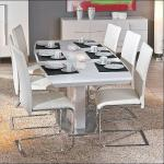 Tisch Esstisch ausziehbar Hochglanz weiß Wyoming