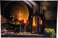 LED Bild beleuchtet Leinwand amberfarbige LED Weinkeller H-Wino