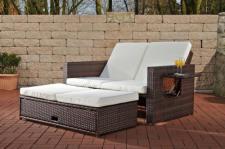 2-Sitzer Sofa ausziehbar Rattan 6 Farben CL-Andy-1