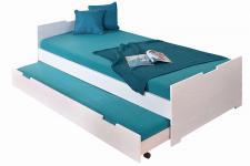 Bett Kinderbett ausziehbar weiß Mainau