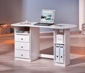 Schreibtisch Computertisch Massivholz 2 Farben L-Tround