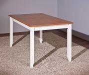 Esstisch Massivholz weiß|sepia L-Wendy-1