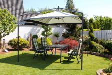 Pavillon Sonnenschirm Kurbel LC-Elegance