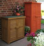 Gartenschrank Massivholz 2 Farben 2 Größen LC-Biene