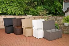 Auflagenbox M Kissenbox Garten Rattan 5 Farben CL-Adrian-M