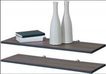 Regal 2-teiliges Set Holz dunkelbraun - DU-2