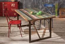 Tisch Esstisch Shabby chic Massivholz Color