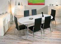 Tisch Esstisch oval ausziehbar weiß Oliviero