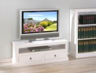 Fernsehtisch TV Lowboard Landhausstil Massivholz weiß Palmas 3