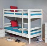 Etagenbett Hochbett oder 2 Einzel-Betten 2 Lattenroste Massivholz Kiefer weiß Sali Rage