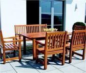 6-teiliges Gartenmöbel Sitzgruppe Mahagoni massiv 3 Ausführungen AW-Rio-Set-1