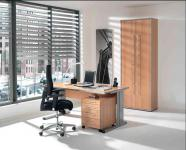 Büromöbel 3-teilig Objektmöbel 4 Farben S-W-5