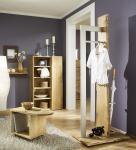 Garderobe Garderobenständer Landhausstil Eiche massiv sägerauh AW-Wildtree-G-6
