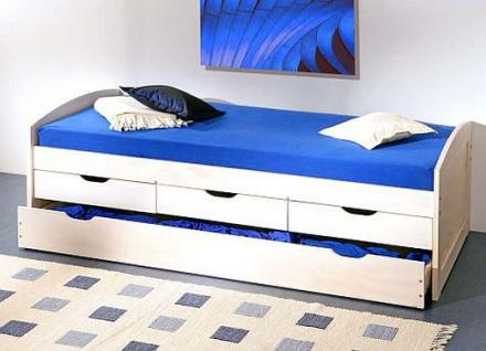 Bett kinderbett ausziehbar 2 schlafm glichkeit massivholz for Bett 3 kinder