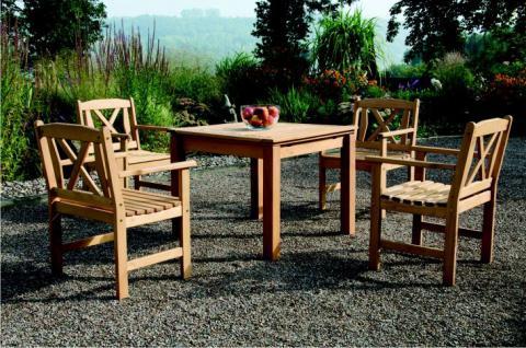 5-teiliges Gartenmöbel Robinie massiv AW-Fiore-Set-1 - Vorschau 3