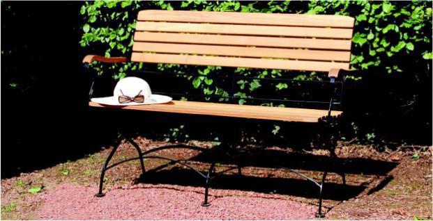 Bank 2-Sitzer Gartenbank Robinie massiv AW-Franko-7 - Vorschau 5
