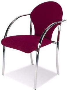 Stuhl 2er Objektmöbel Armlehnen Chrom schwarz blau rot NS-Valley