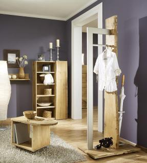 Garderobe Set 4-teilig Landhausstil Eiche massiv sägerauh AW-Wildtree-Set-D