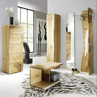 Garderobe Set 5-teilig Landhausstil Eiche massiv sägerauh AW-Wildtree-Set-G