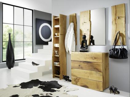 Garderobe Set 5-teilig Landhausstil Eiche massiv sägerauh AW-Wildtree-Set-H