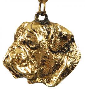 Bulldogge Bulldoggen Schlüsselanhänger Anhänger - Vorschau 1