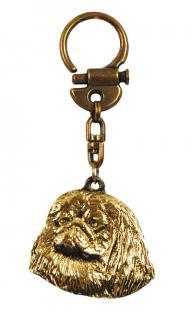 Pekingese Pekinese Schlüsselanhänger Messing - Vorschau 2