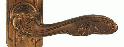 Jugendstil Türklinken Bronze - Vorschau 3