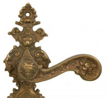 Türgriff mit Knauf für alte antike Türen Bronze - Vorschau 2