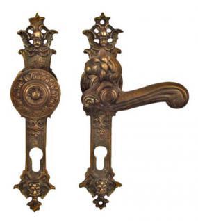 Barock antike Löwenkopf Türklinke Bronze