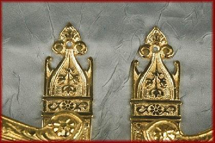 Antik Stil Türklinken TÜRBESCHLÄGE Messing - Vorschau 3