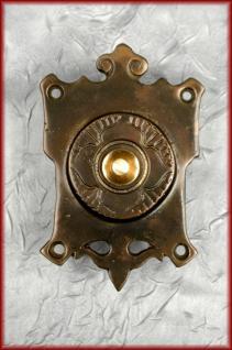 Bronze Türklingel Klingel Jugendstil Gründerzeit Klingelplatte