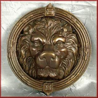 Löwenkopf Türklopfer Bronze