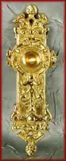 antike Klingel Jugendstil Klingeltaster Klingelplatte