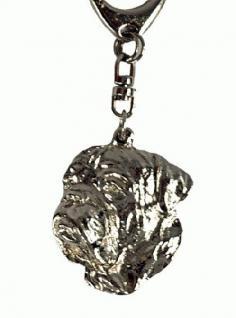 BX Dogge Bordeauxdogge Schlüsselanhänger Chrom - Vorschau 2