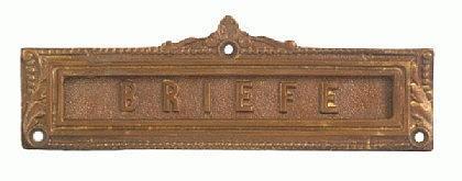 Briefeinwurf Briefschlitz Briefklappe Messing - Vorschau