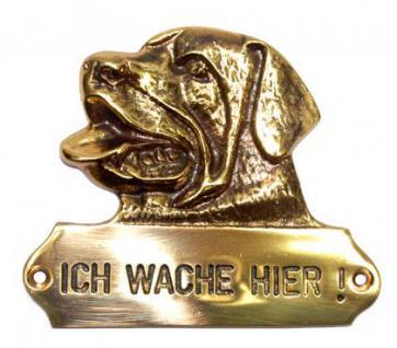 Warnschild Rottweiler Hundekopf - Vorschau