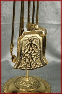 antikes Stil Kaminbesteck Kamingarnitur gold Messing - Vorschau 2