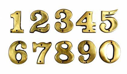 Hausnummer Zimmernummer Zahl Ziffer Messing - Vorschau