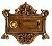 Klingel Jugendstil Klingelplatte Bronze
