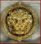großer Löwenkopf Türklopfer