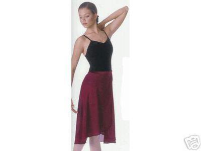 Ballett Wickelrock bordeaux M