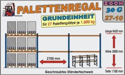 Palettenregal Regal Schwerlastregal 30G27-10