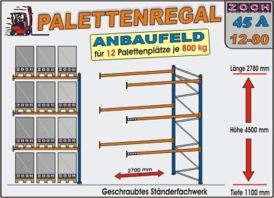 Palettenregal Regal Schwerlastregal 45A12-80