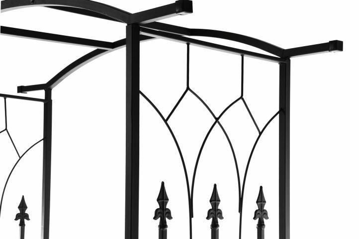 rosenbogen torbogen rankhilfe pergola spalier kleeblatt tor rosen t r metall kaufen bei belan gmbh. Black Bedroom Furniture Sets. Home Design Ideas