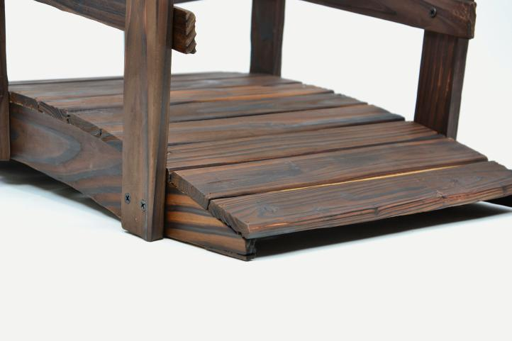kleine holzbr cke teichbr cke teich garten holz deko br cke mit gel nder braun kaufen bei. Black Bedroom Furniture Sets. Home Design Ideas