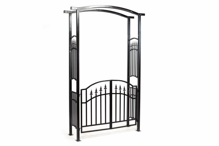 rosenbogen torbogen rankhilfe pergola spalier tor rosen bogen t r metall 216 cm kaufen bei. Black Bedroom Furniture Sets. Home Design Ideas