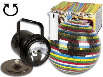 Spiegelkugelset Multicolour 15cm inkl. Motor - Vorschau